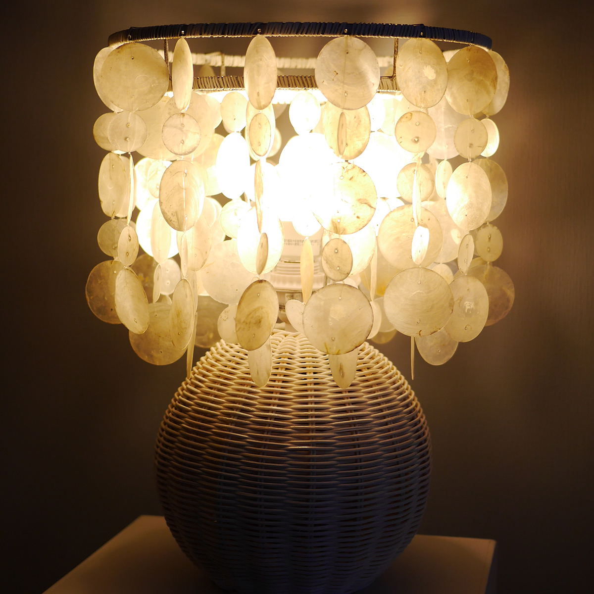 Capiz table lamp