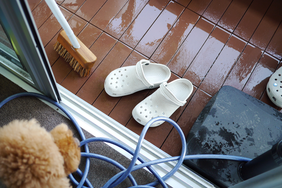 Balcony cleaning
